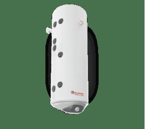 Комбиниран бойлер Eldom WV08039S2L 80 л, с две леви серпентини, емайлиран, малък диаметър